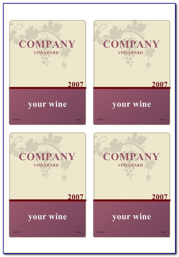 Free Mini Champagne Bottle Label Template