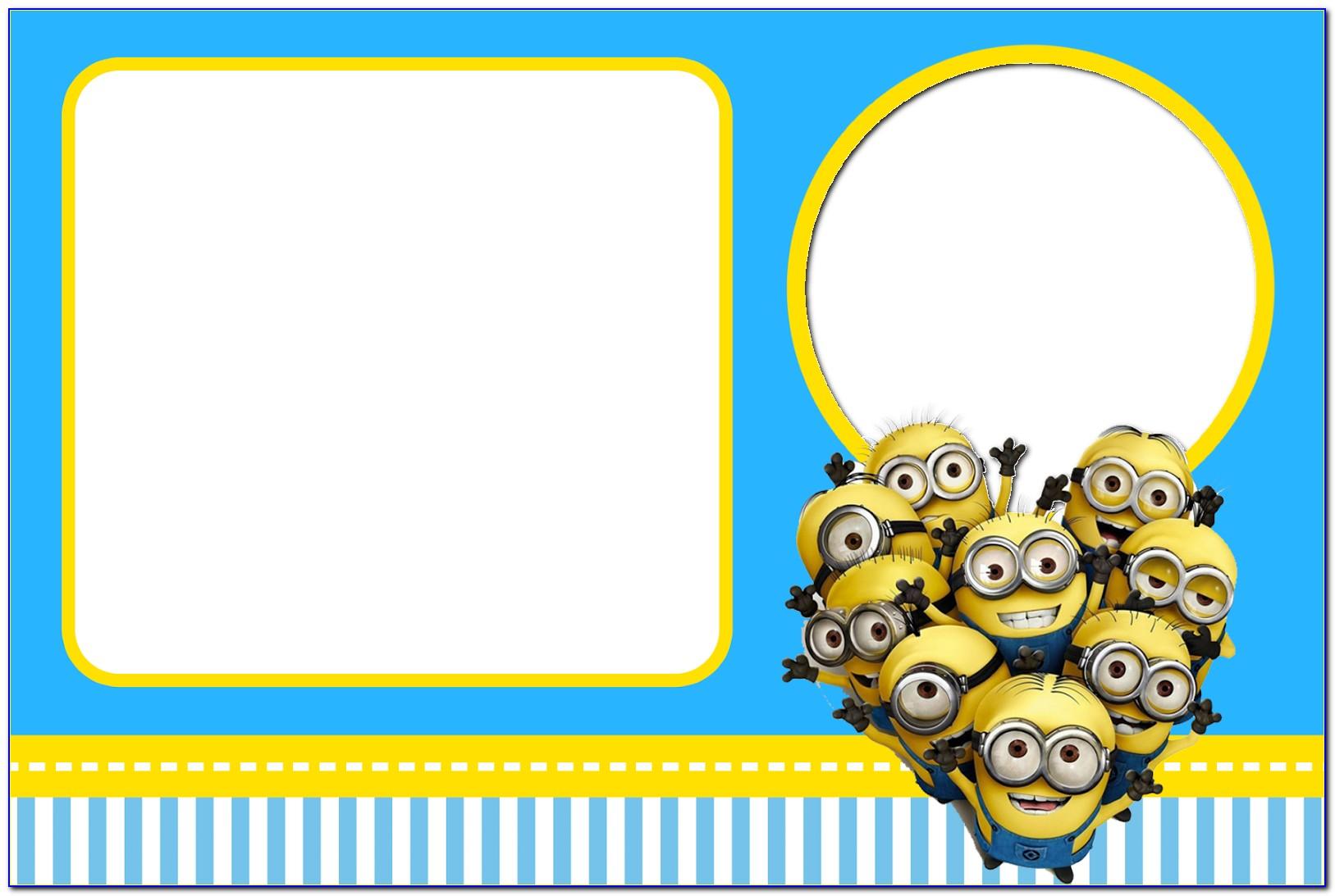 Free Minion Party Invitation Template