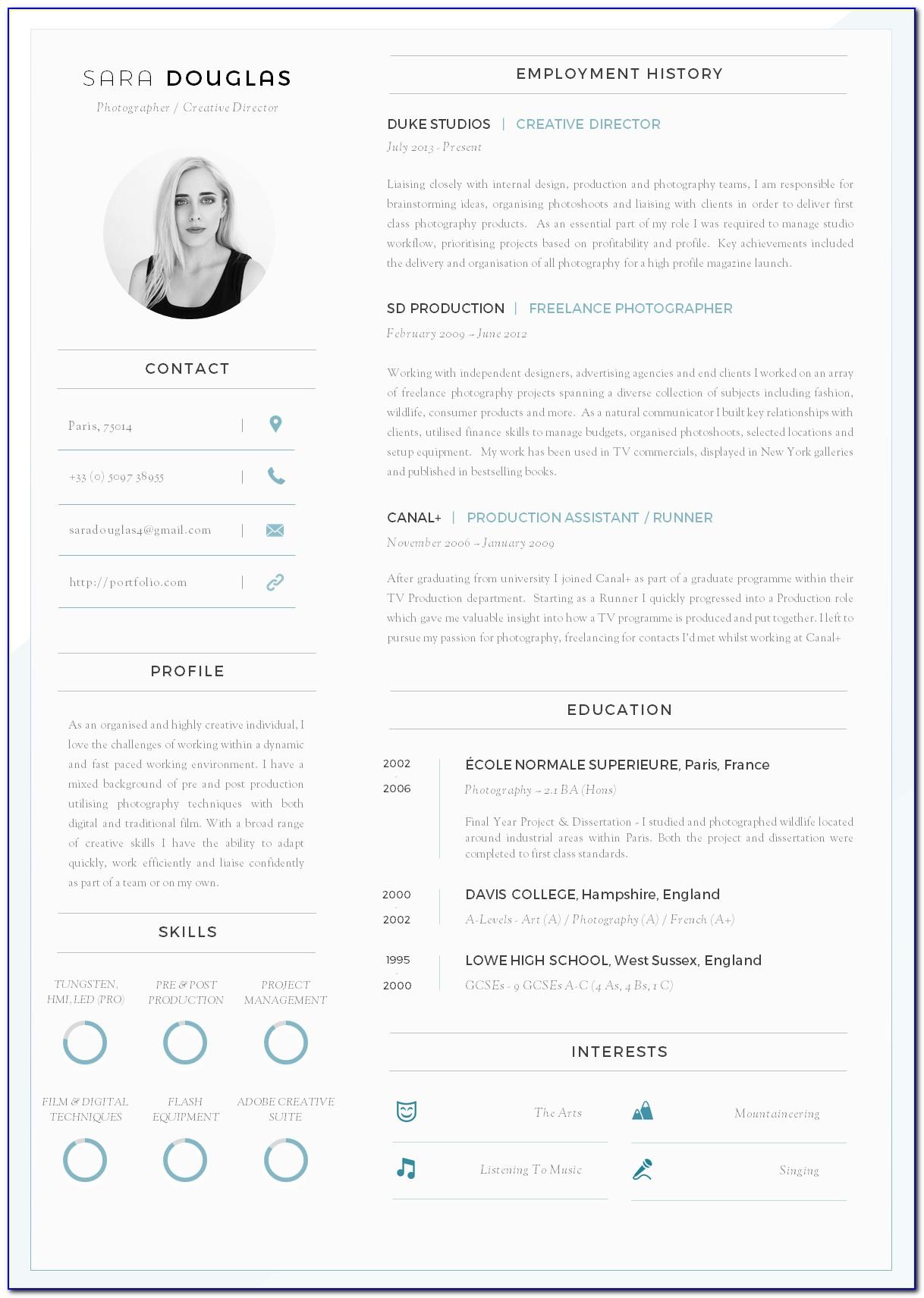 Free Modern Resume Templates Docx