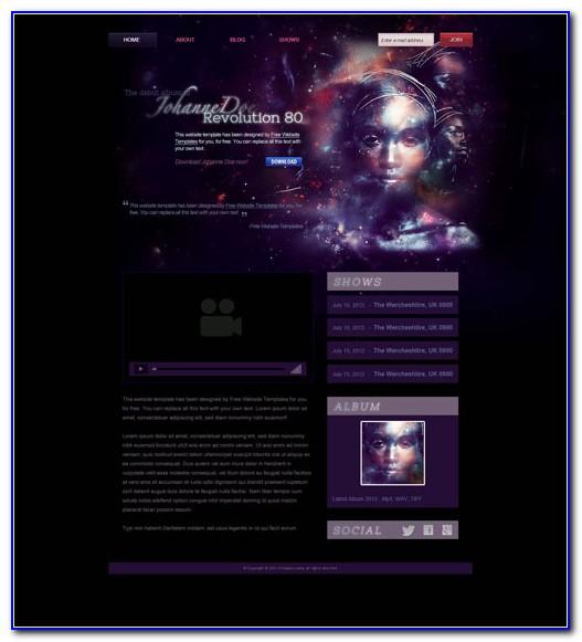 Free Music Website Templates Wordpress