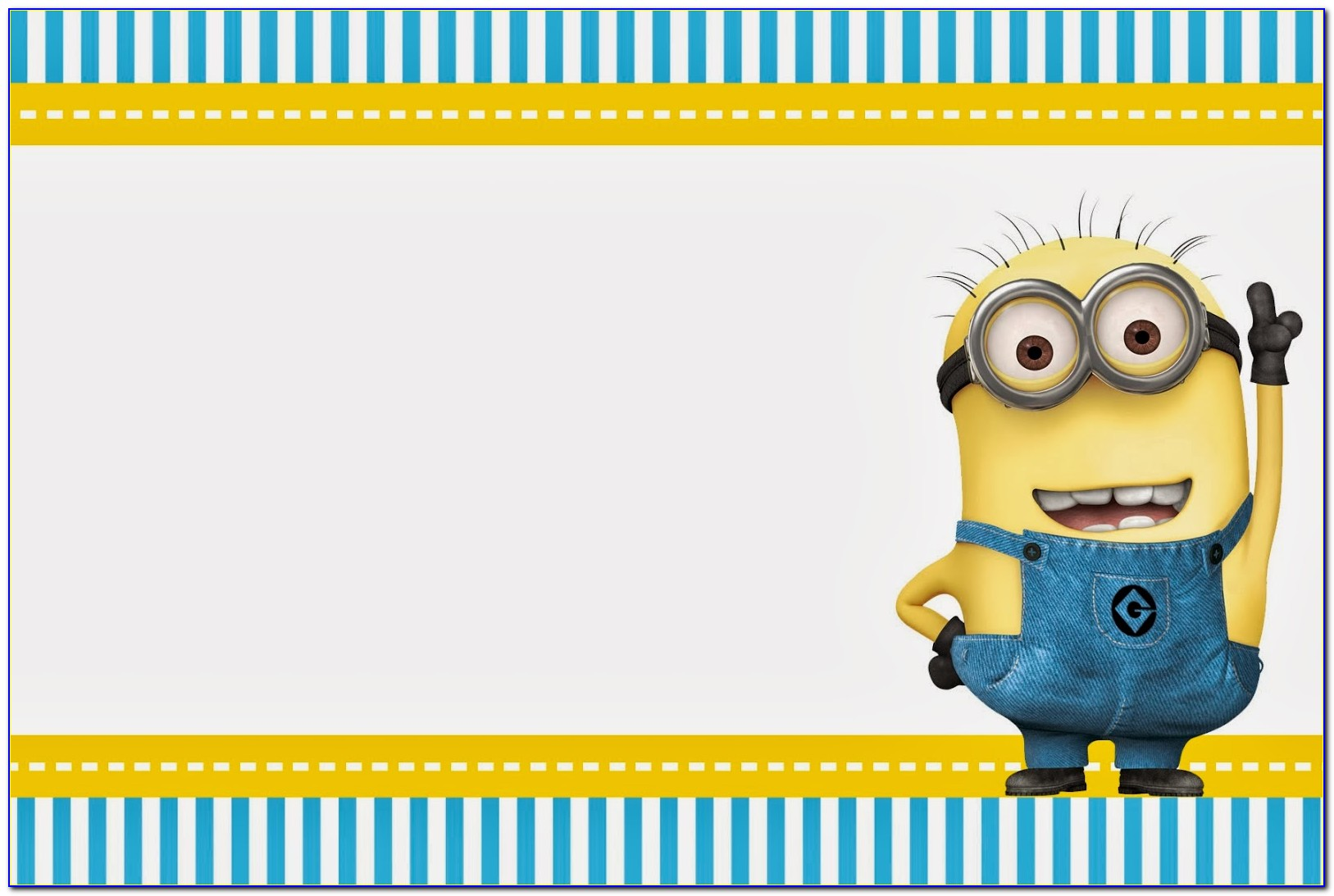 Free Online Minion Invitations Template