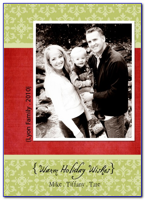 Free Photo Christmas Card Templates Psd