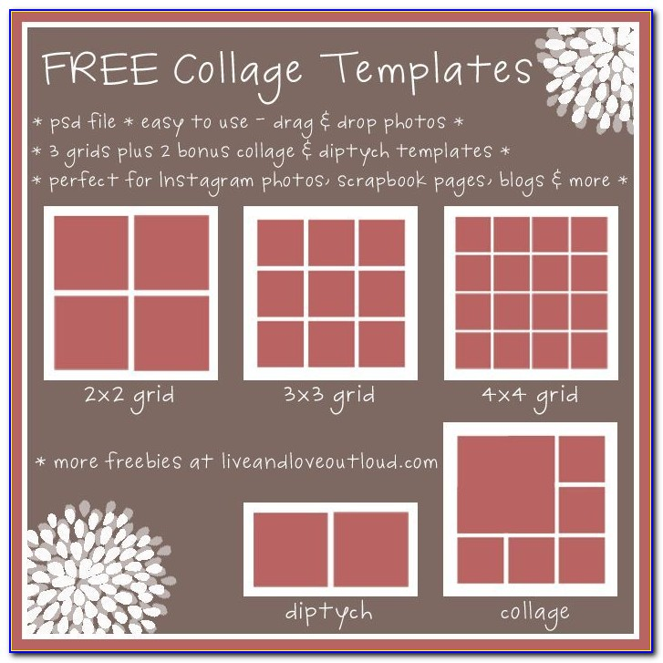 Free Photo Collage Templates For Printing