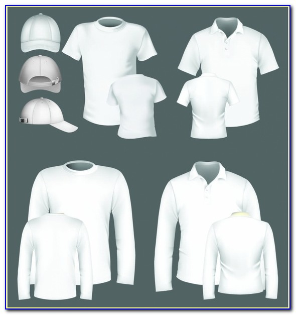 Free Polo Shirt Template Green