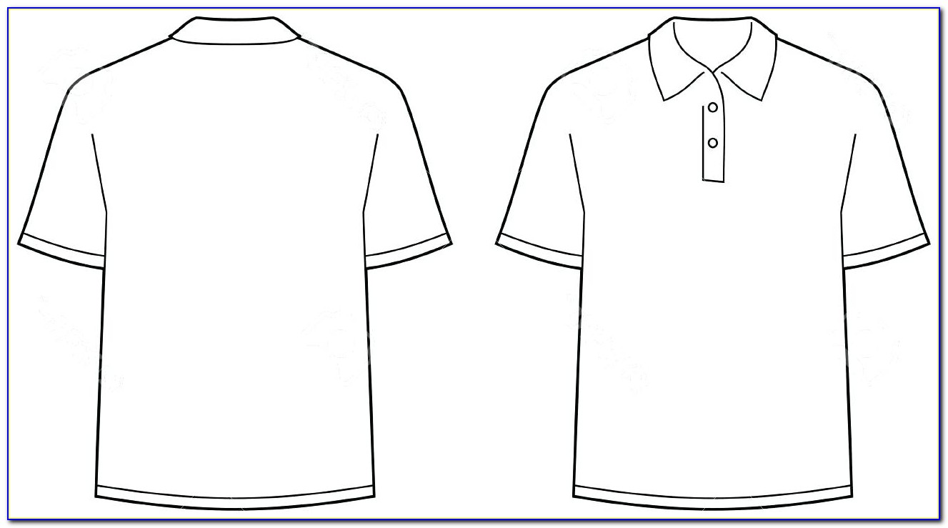 Free Polo T Shirt Template Vector
