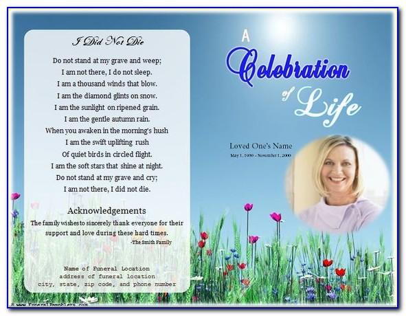 Free Printable Celebration Of Life Program Template