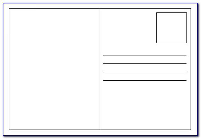 Blank Postcard Template Free Amp Premium Templates Free Postcard Templates