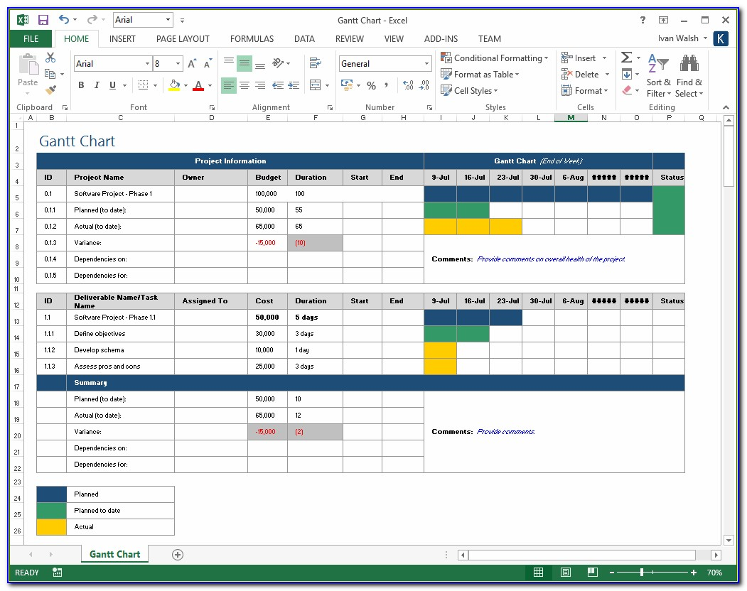 Free Project Plan Template Excel