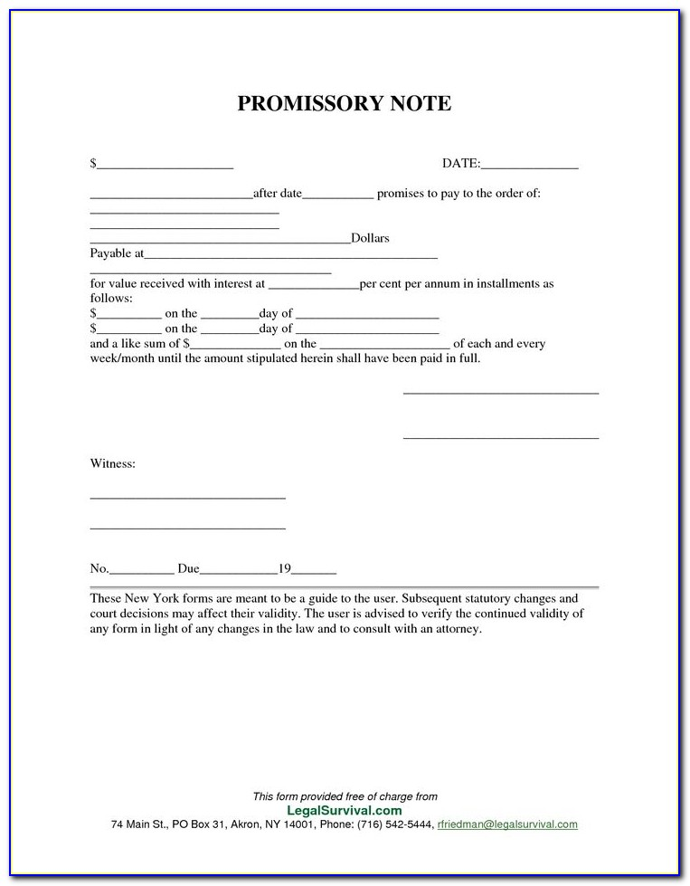 Free Promissory Note Template In Word