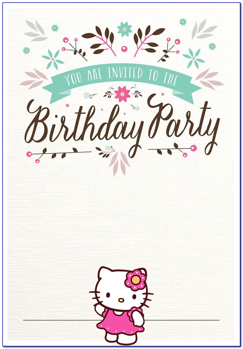 Free Psd Template Birthday Invitation