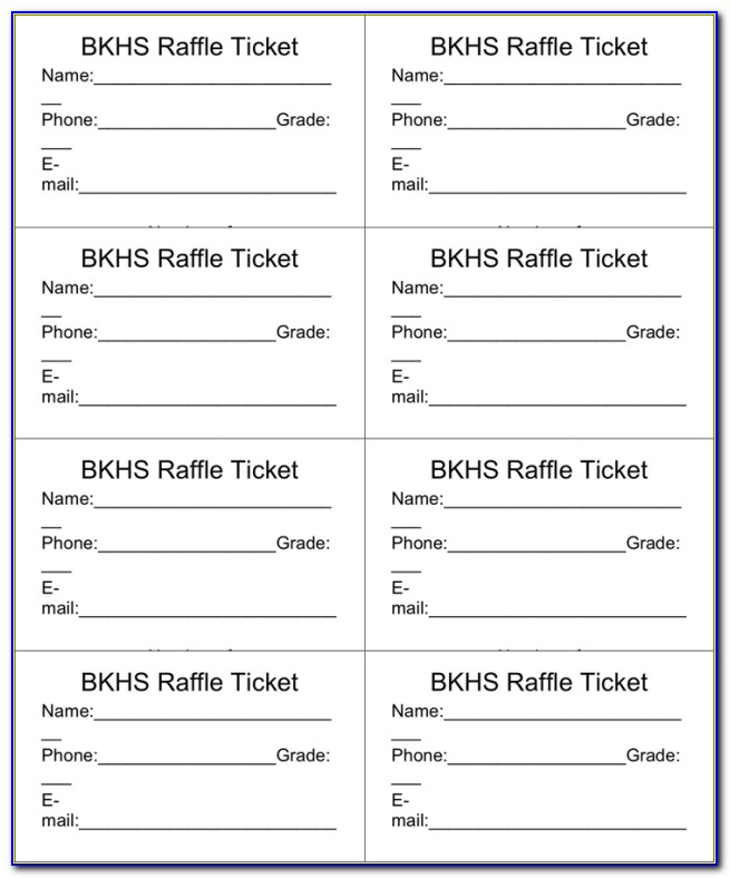 Free Raffle Ticket Template Numbered