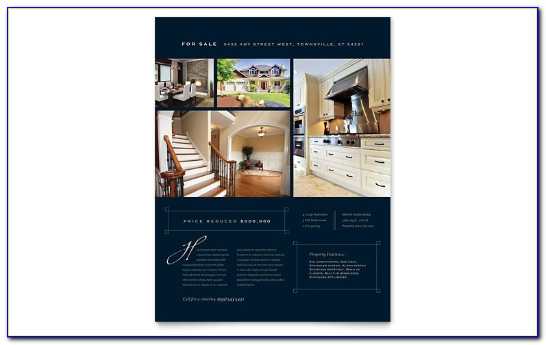 Luxury Home Real Estate Flyer Template Word Publisher Free Real Estate Brochure Templates Free Real Estate Brochure Templates