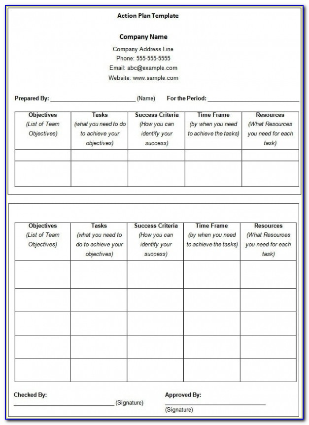Free Sales Plan Template Excel
