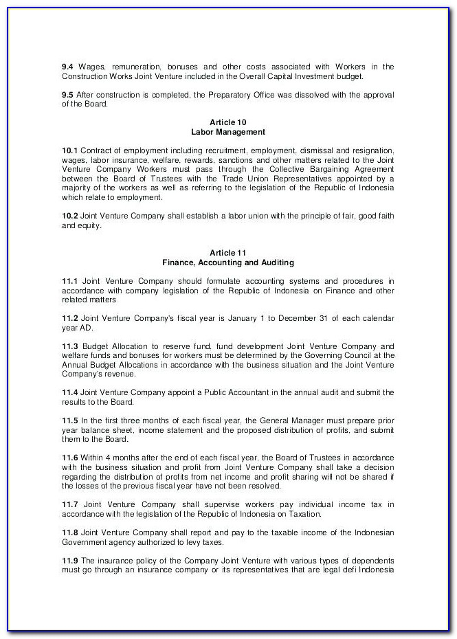 Awesome International Joint E Agreement Template Free Will Venture Uk View Free Contractor Agreement Template Uk