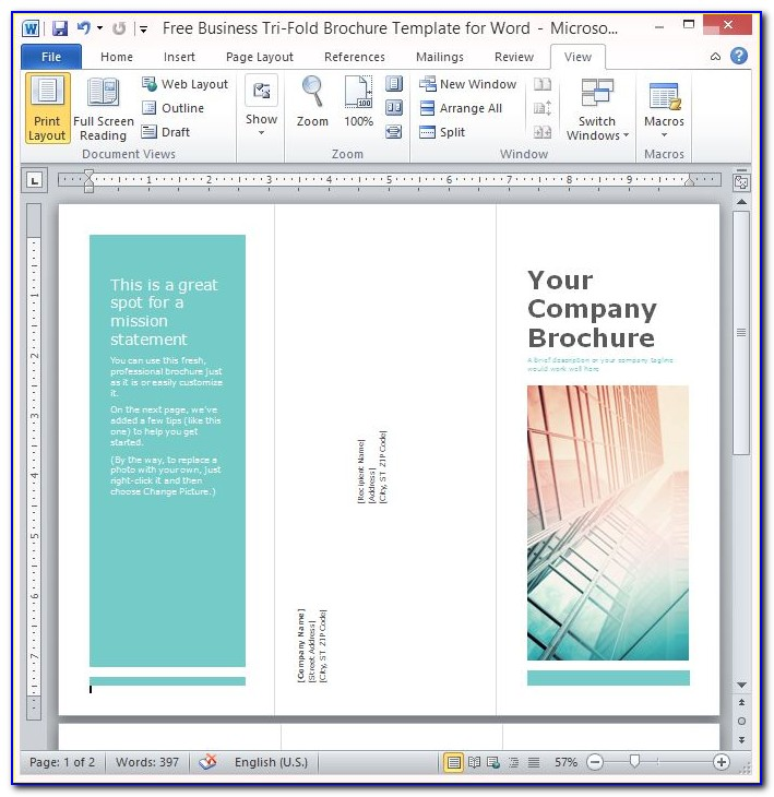 Free School Brochure Templates For Word