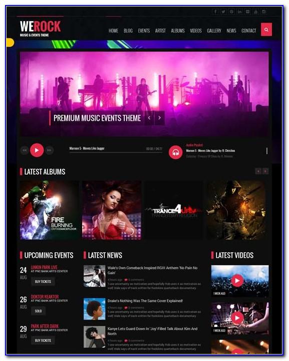 Free Singer Website Templates
