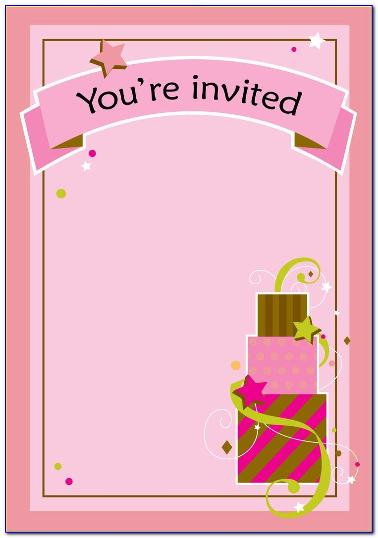 Free Template 1st Birthday Invitation