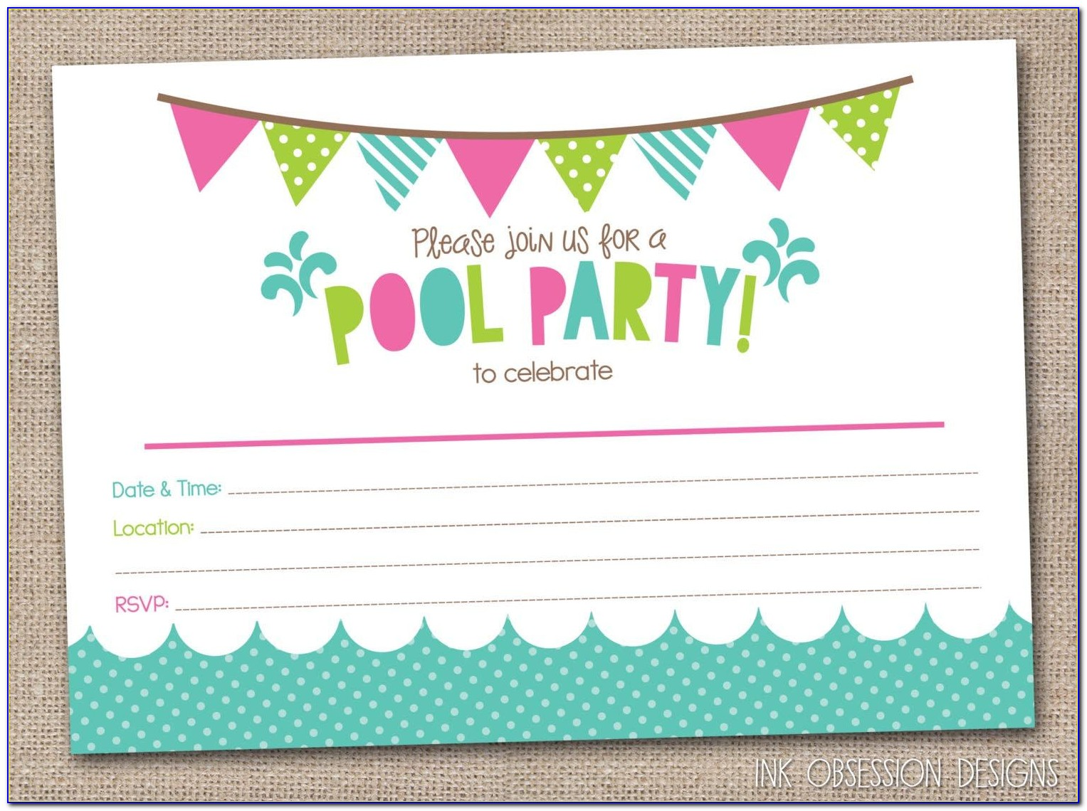 Free Template Birthday Invitation Boy