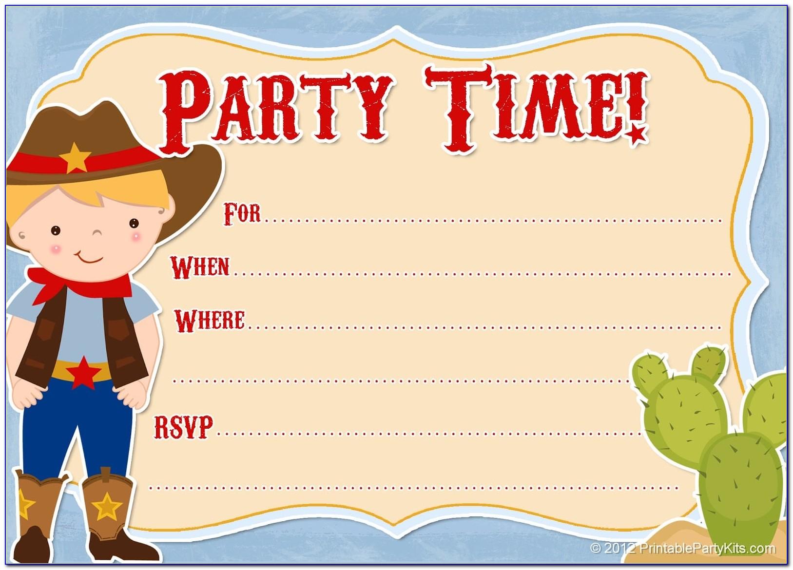 Free Template Dinosaur Birthday Invitations