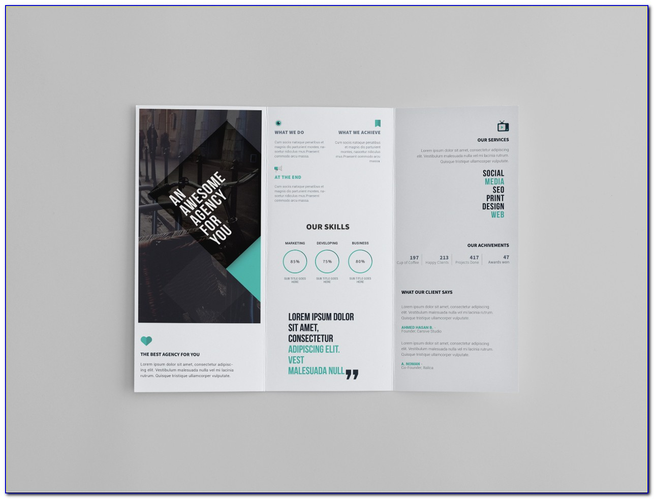 Free Tri Fold Brochure Templates Illustrator