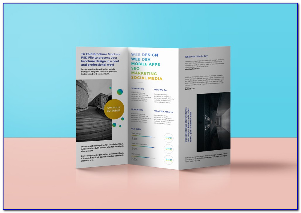 Free Tri Fold Brochure Templates Powerpoint