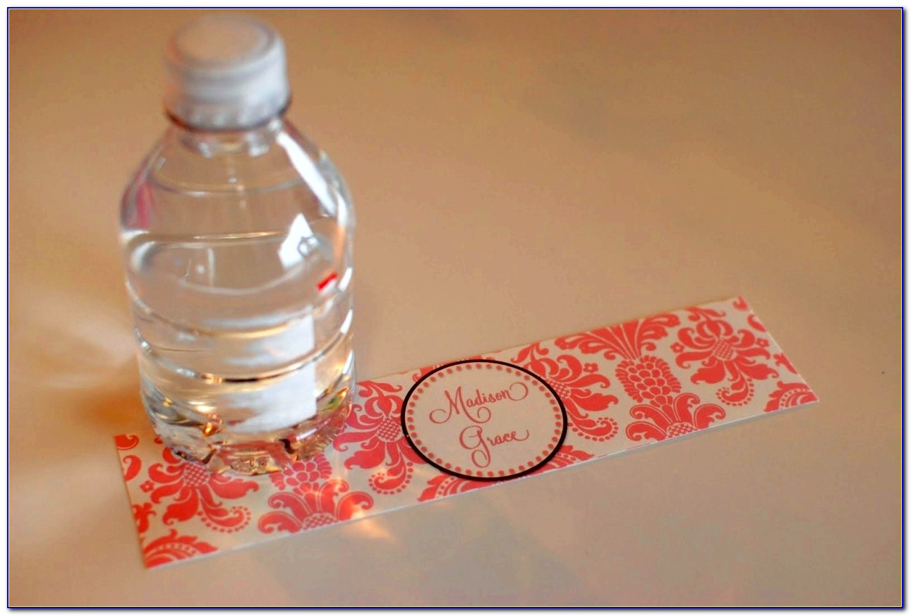 Free Wedding Water Bottle Labels