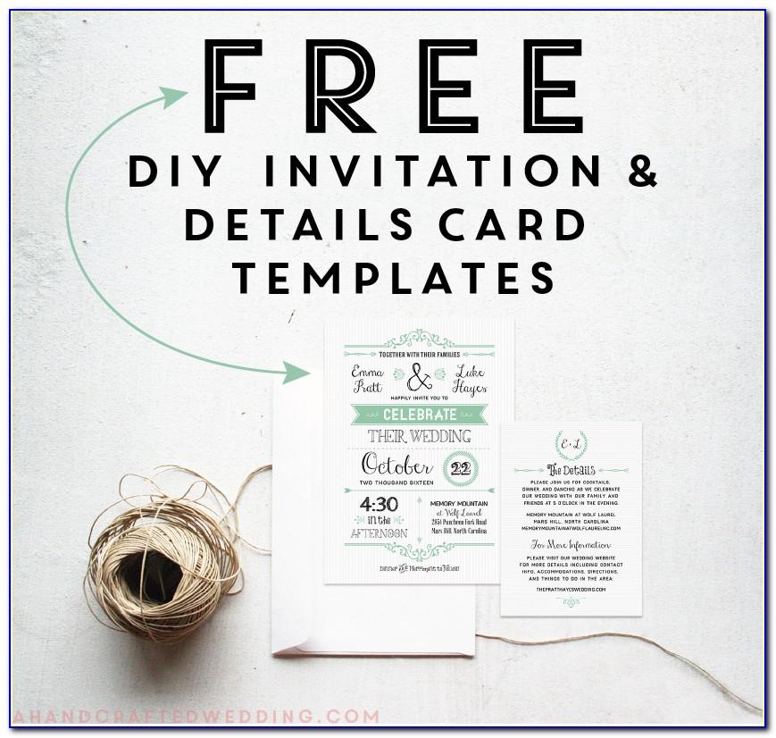 Free Wedding Invitation Templates For Word India
