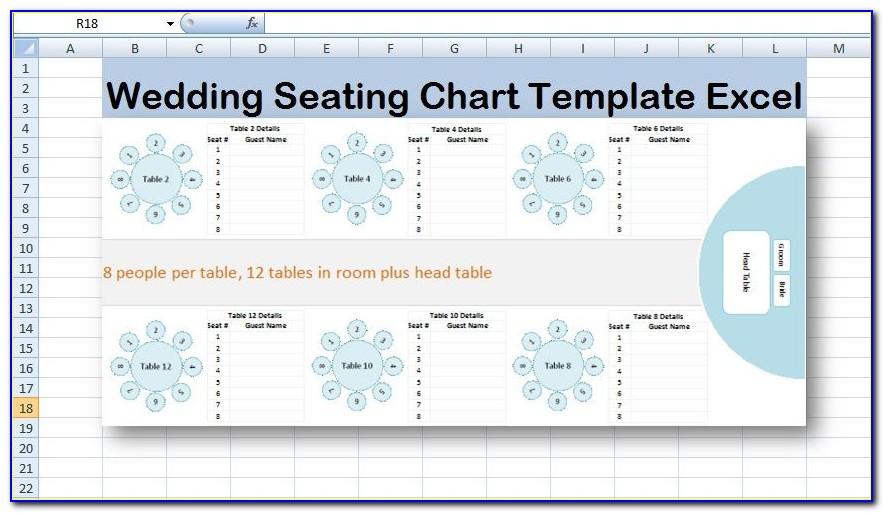 Free Wedding Seating Chart Template Microsoft Word