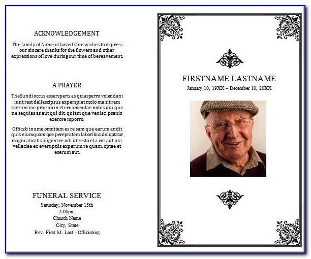 Funeral Program Template Word Doc