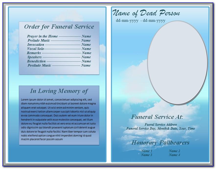 Funeral Program Template Word Document