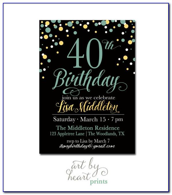 Funny 40th Birthday Invitations Templates