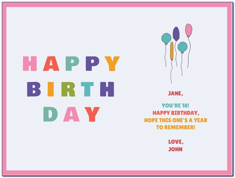 Funny Birthday Card Template Free Printable