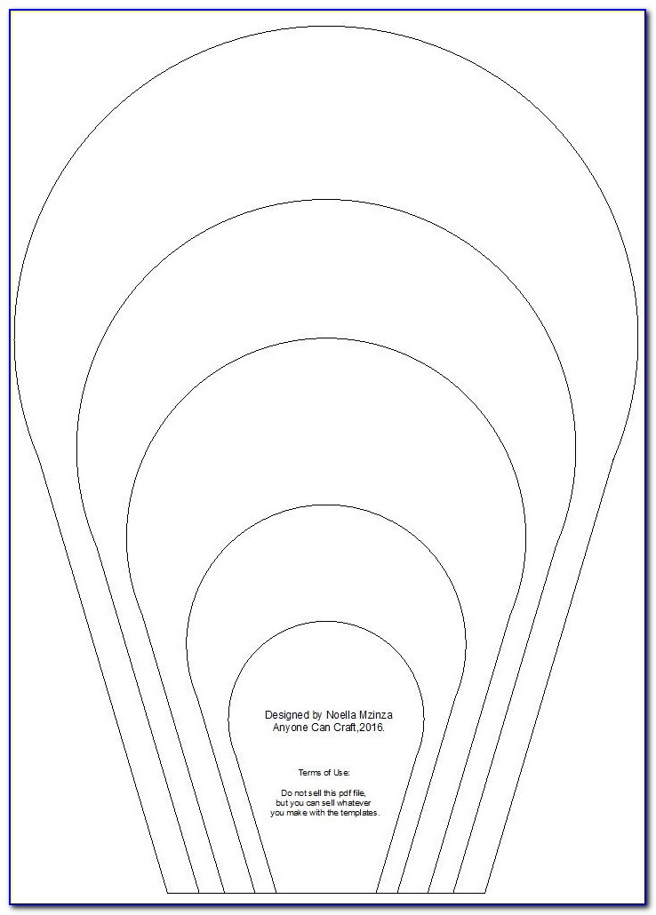 Giant Paper Flower Template Pdf Free