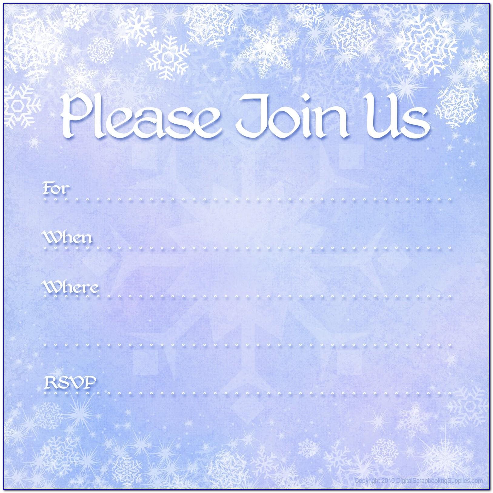 Gold Snowflake Invitation Template