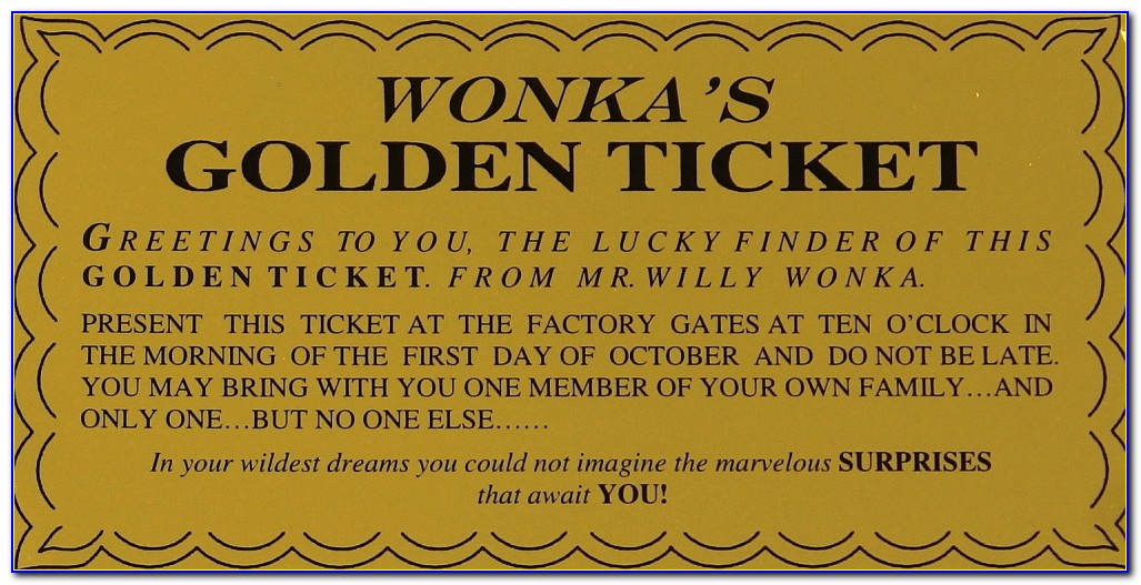 Golden Ticket Template Word Document