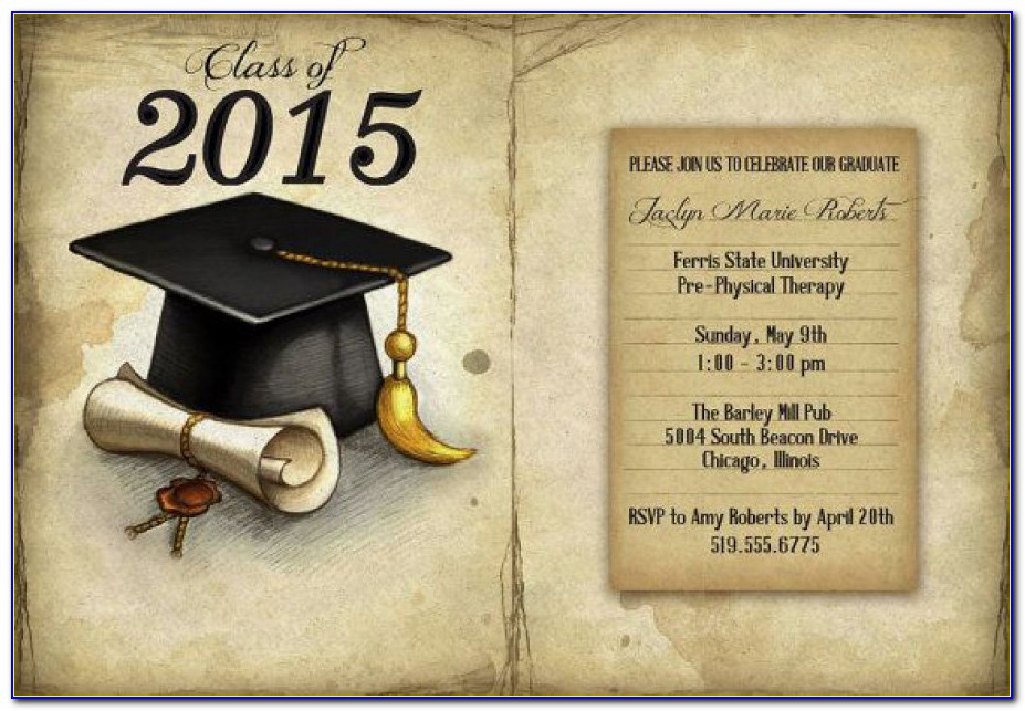 Graduation Invitation Templates For Free