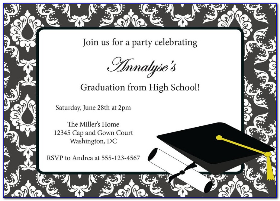 Graduation Invitation Templates For Word