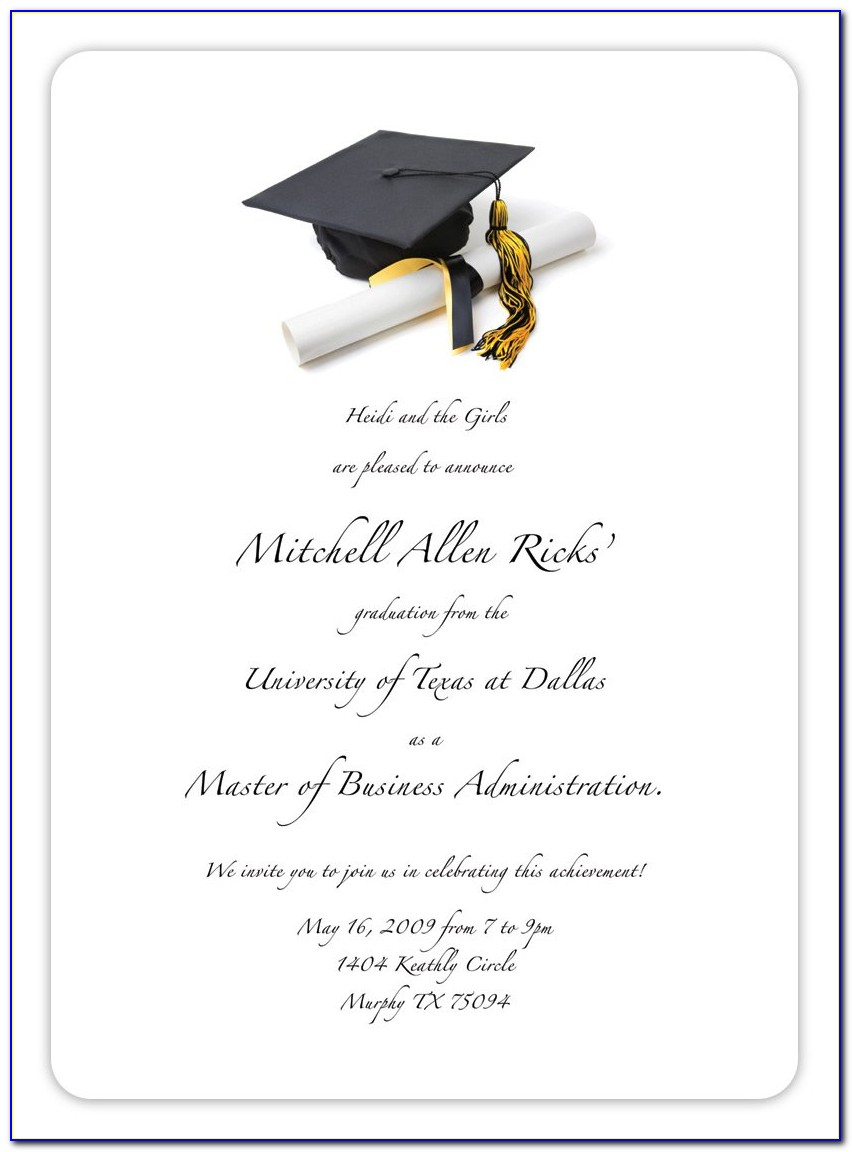 Graduation Invitation Templates Free Printable