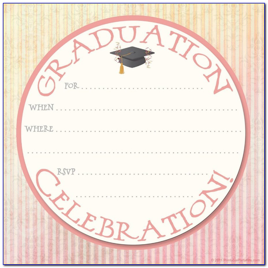 Graduation Invitation Templates Psd
