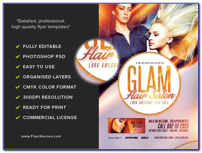 Hair Salon Flyer Templates Free Download