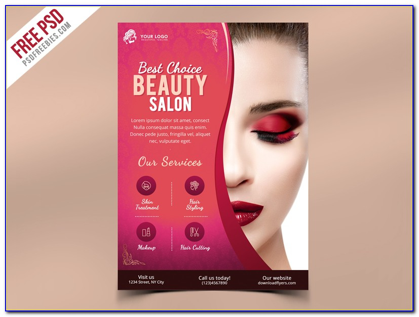 Hair Salon Flyers Free Template