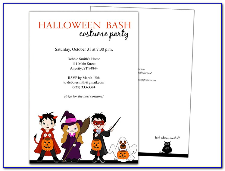 Halloween Invitation Templates Microsoft Word