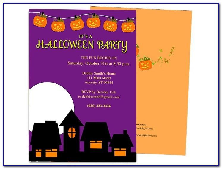 Halloween Invitation Templates Photoshop