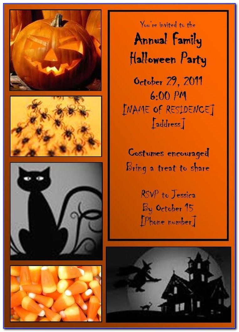 Halloween Party Invitation Card Templates
