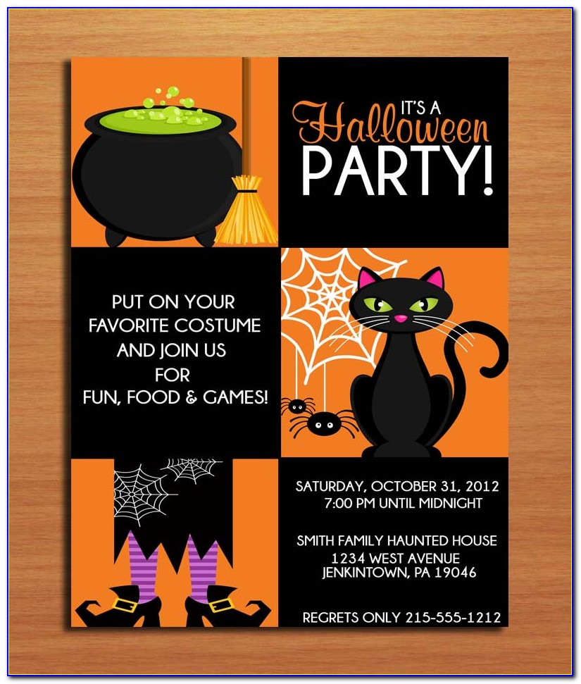 Halloween Party Invitation Template Downloads