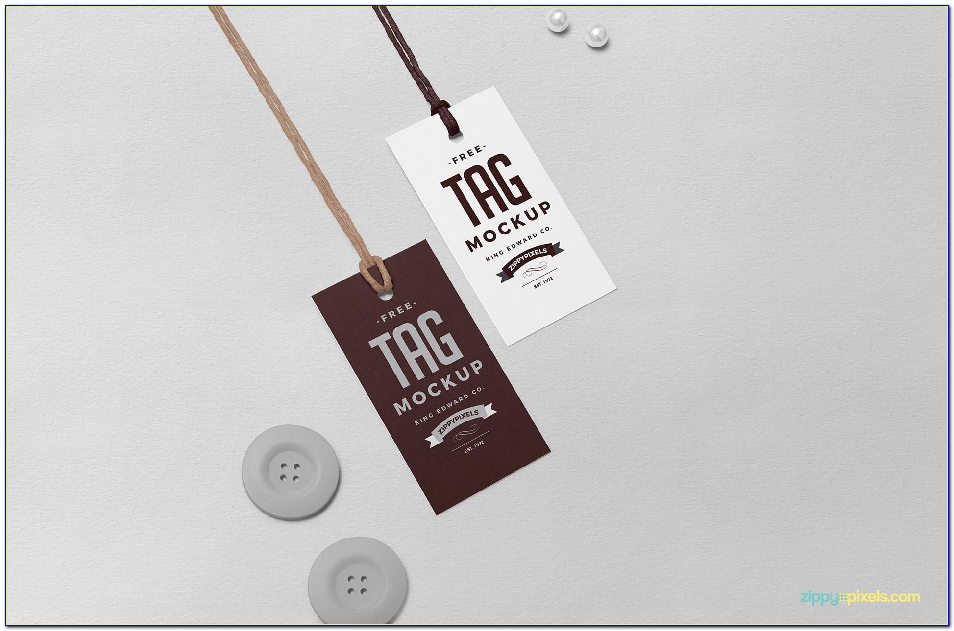 Hang Tag Template Vector