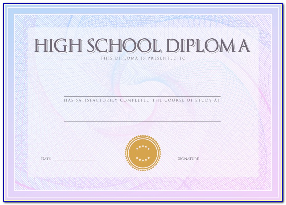 High School Diploma Template Philippines
