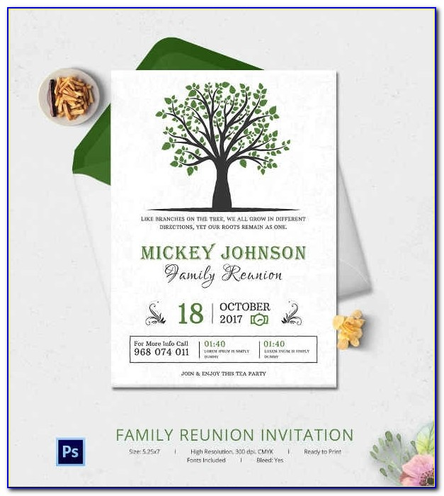 32+ Family Reunion Invitation Templates Free Psd, Vector Eps Throughout Family Reunion Invitation Templates