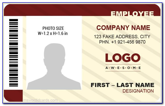 Id Badge Template Download