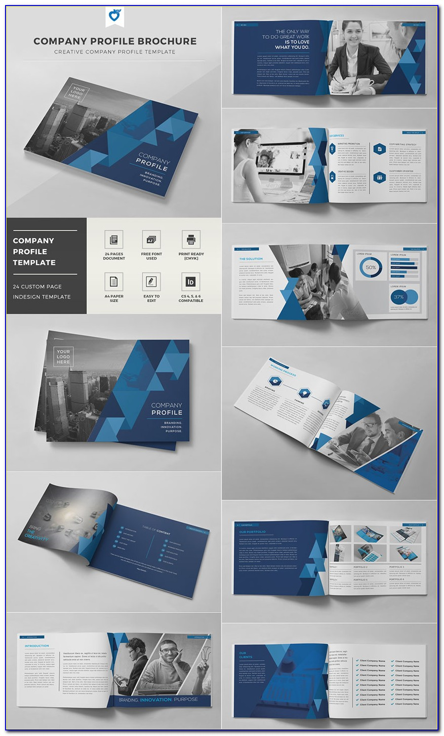 Indesign Brochure Templates Tri Fold